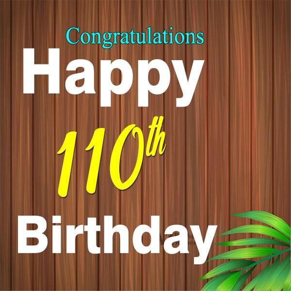 110th Birthday Wishes - AZBirthdayWishes.com