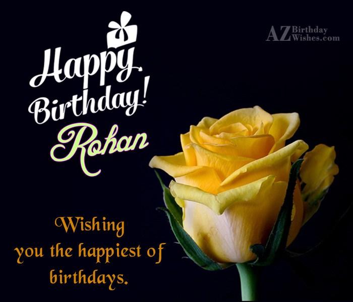 Happy Birthday Rohan