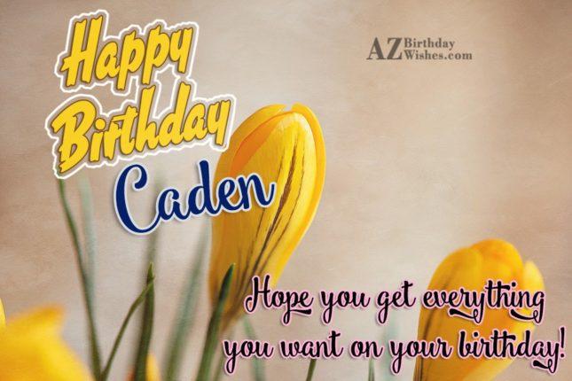 Happy Birthday Caden - AZBirthdayWishes.com