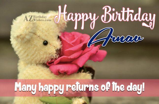Happy Birthday Arnav - AZBirthdayWishes.com