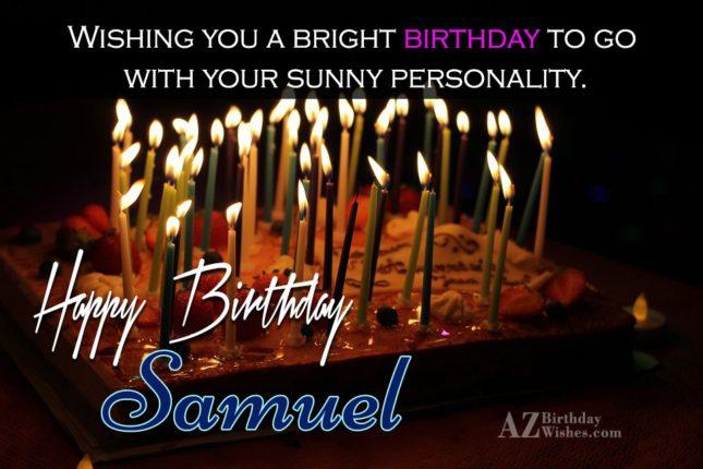 Happy Birthday Samuel - AZBirthdayWishes.com