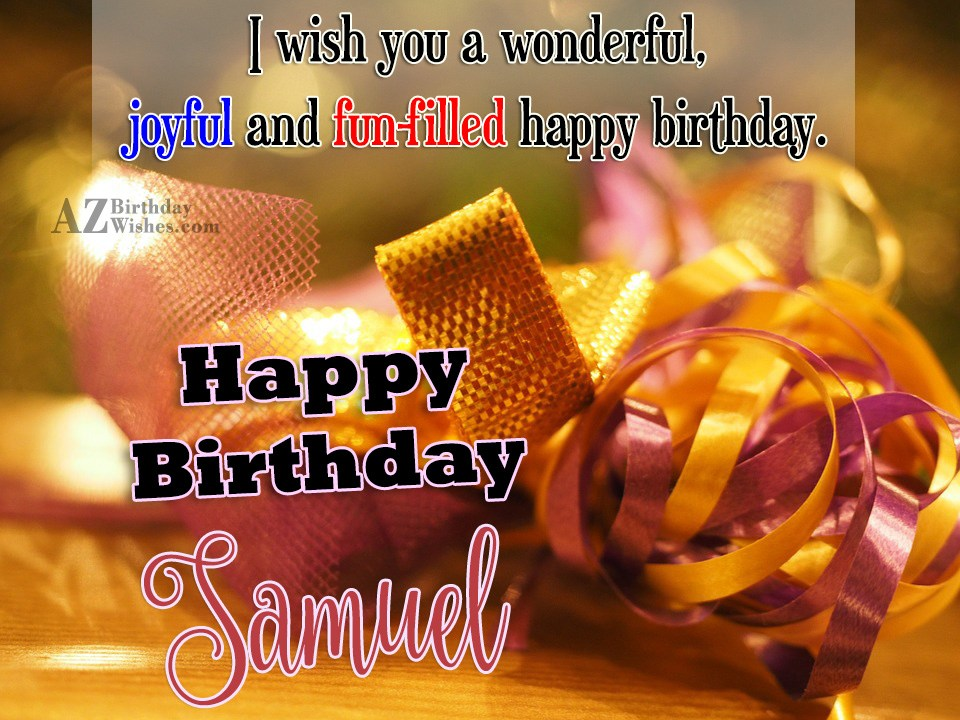 Happy Birthday Samuel
