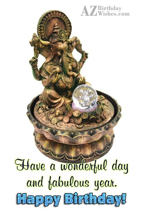 Have a wonderful day and year on Ganesha… - AZBirthdayWishes.com