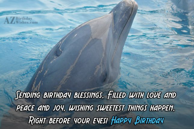 Sending birthday blessings… - AZBirthdayWishes.com