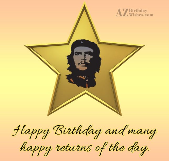 Happy birthday and many happy returns of the day… - AZBirthdayWishes.com