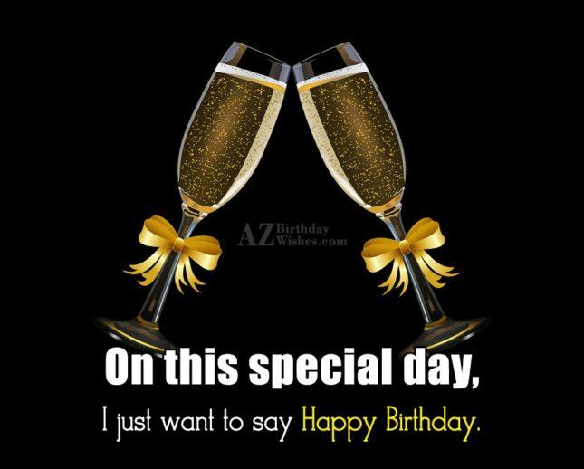I wish you happy birthday… - AZBirthdayWishes.com