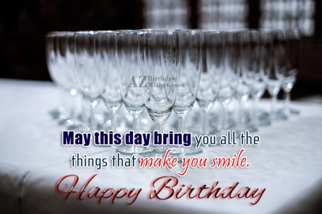 Birthday wish on empty champagne glasses… - AZBirthdayWishes.com
