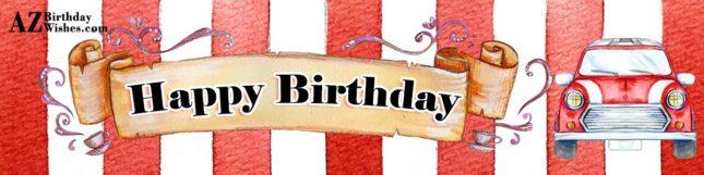 Happy birthday on car poster… - AZBirthdayWishes.com