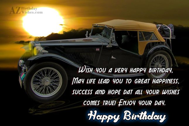 Wish you a very happy birthday… - AZBirthdayWishes.com