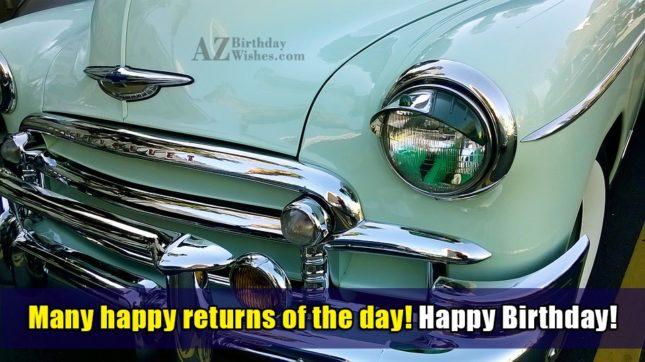 Many happy returns of the day… - AZBirthdayWishes.com