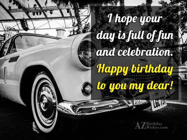 Happy birthday to you me dear… - AZBirthdayWishes.com