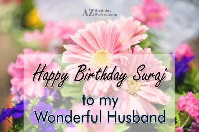 Happy Birthday Suraj - AZBirthdayWishes.com