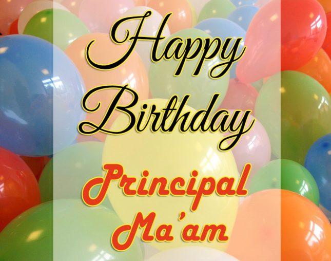 Birthday greetings to Principal Ma'am… - AZBirthdayWishes.com