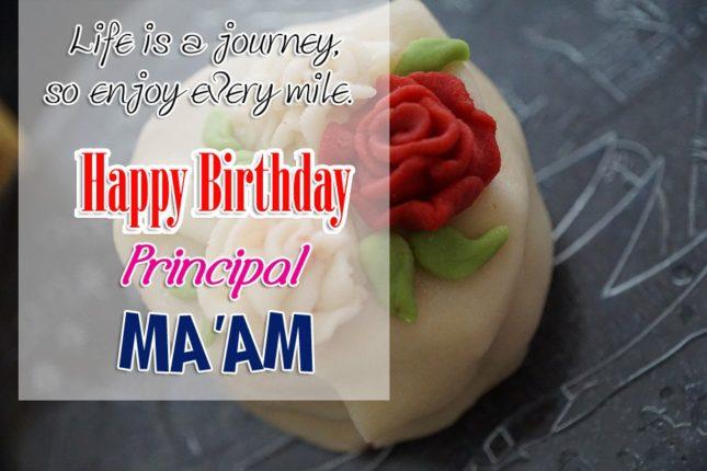 Wishing birthday to Principal Ma'am… - AZBirthdayWishes.com