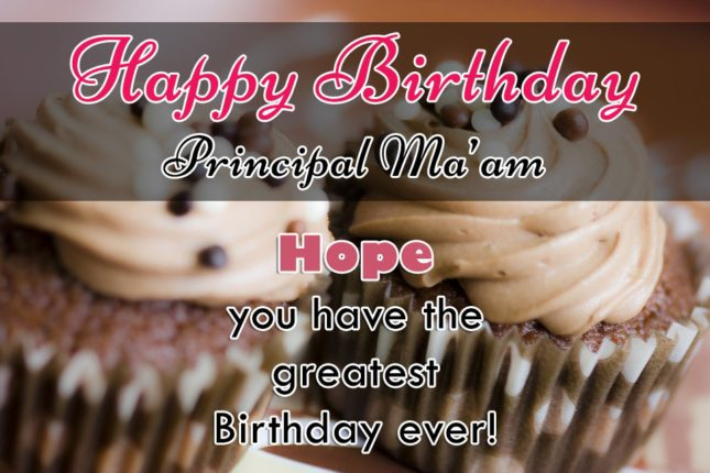 Greeting birthday to Principal Mam… - AZBirthdayWishes.com