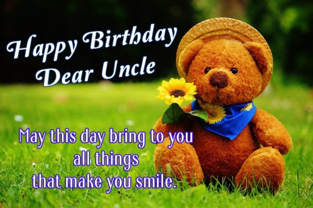 Happy birthday dear uncle… - AZBirthdayWishes.com