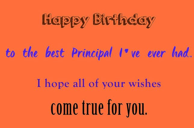 Happy birthday to the best Principal I… - AZBirthdayWishes.com