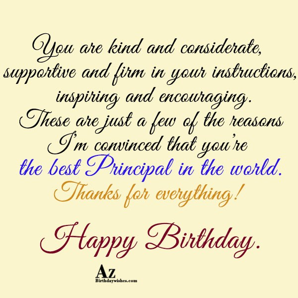 You are kind and considerate… - AZBirthdayWishes.com