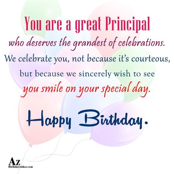 You are a great Principal… - AZBirthdayWishes.com