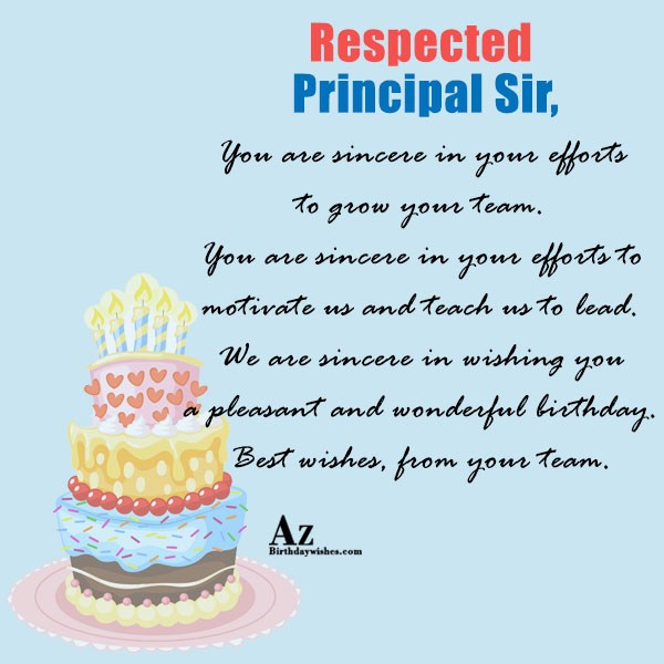 You are sincere in your efforts… - AZBirthdayWishes.com