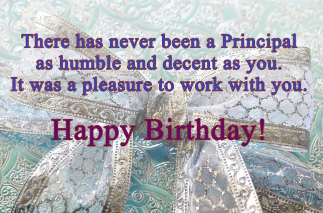 There has never been a principal… - AZBirthdayWishes.com