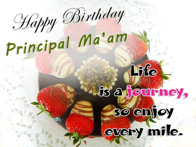 Happy birthday Principal Ma'am… - AZBirthdayWishes.com