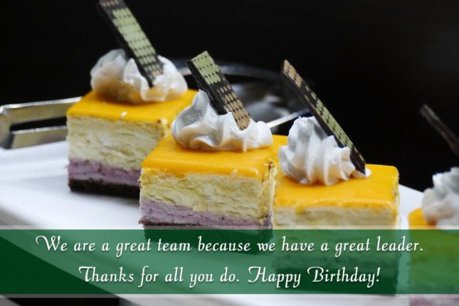 We are a great team because… - AZBirthdayWishes.com