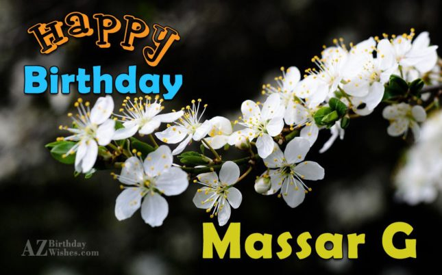 Birthday wishes to Massar Ji - AZBirthdayWishes.com