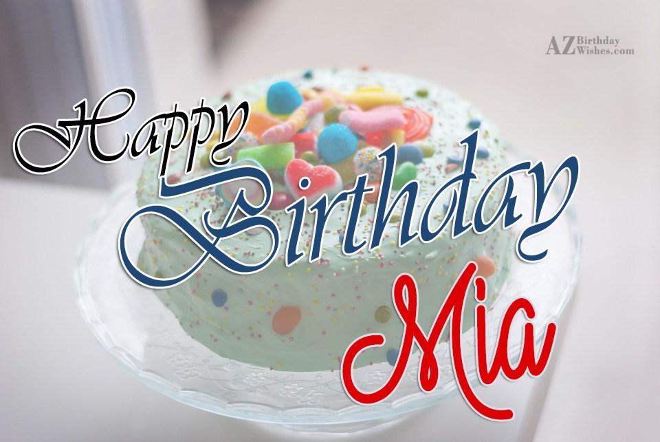 Happy Birthday Mia