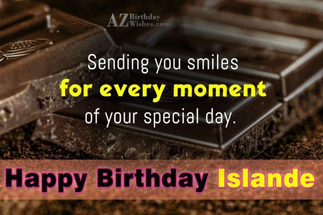 Happy Birthday Islande - AZBirthdayWishes.com