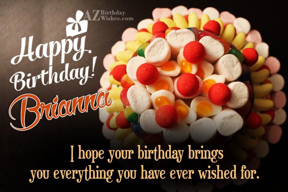 Happy Birthday Brianna