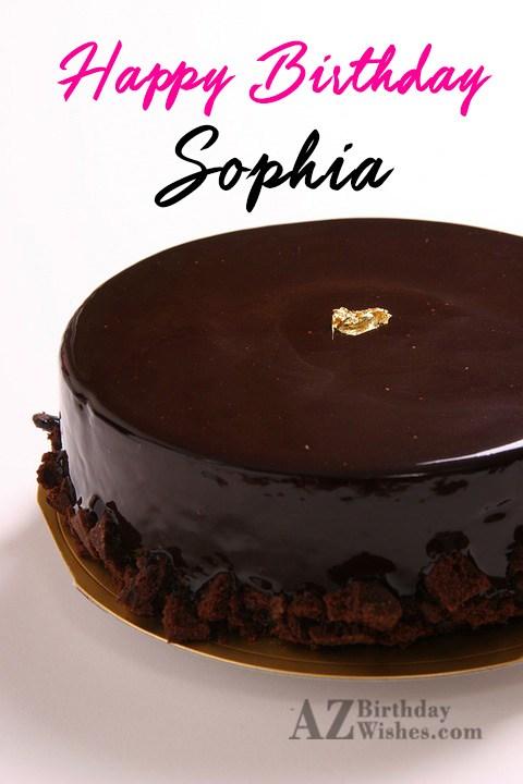 Happy Birthday Sophia - AZBirthdayWishes.com
