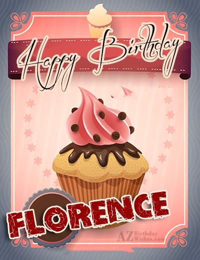 Happy Birthday Florence - AZBirthdayWishes.com