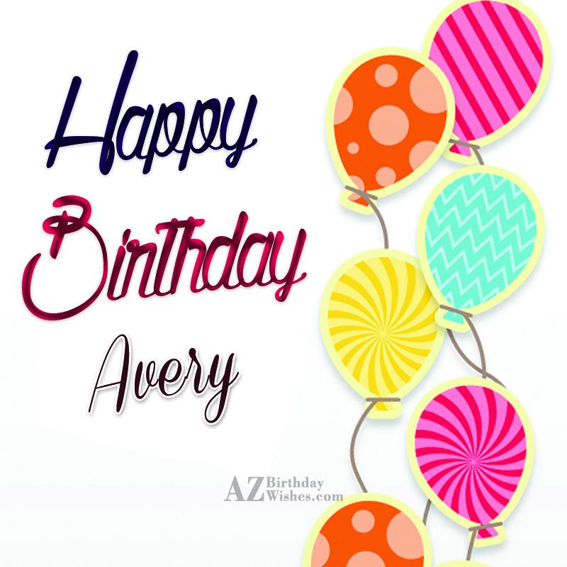 Happy Birthday Avery Cake