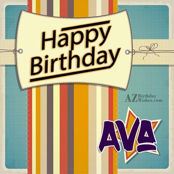 Happy Birthday Ava - AZBirthdayWishes.com
