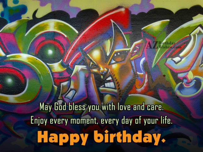 May god bless you with love and car happy birthday - AZBirthdayWishes.com