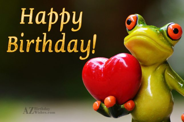 Happy birthday with frog background - AZBirthdayWishes.com