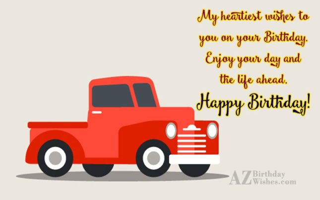 My heartiest wishes to you on… - AZBirthdayWishes.com