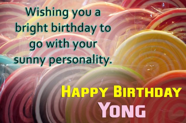 Happy Birthday Yong - AZBirthdayWishes.com