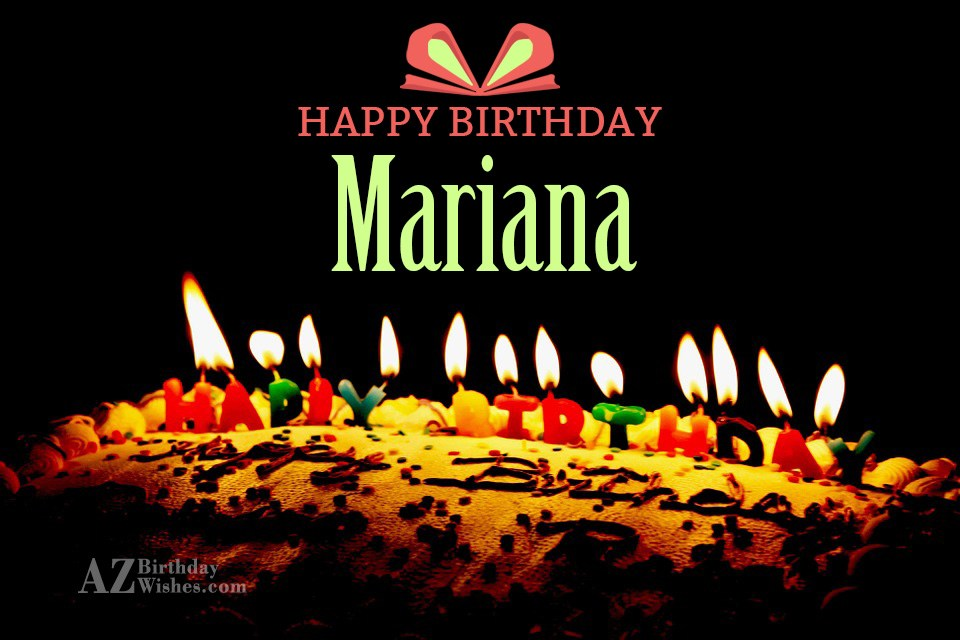 Happy Birthday Mariana Cake