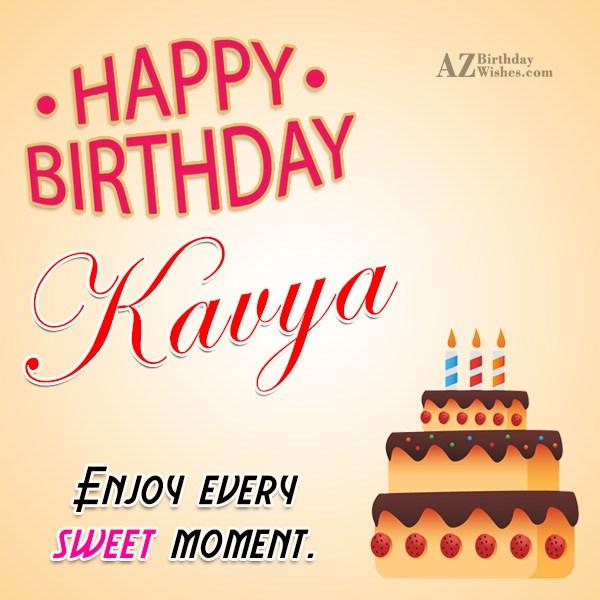 Happy Birthday Kavya - AZBirthdayWishes.com