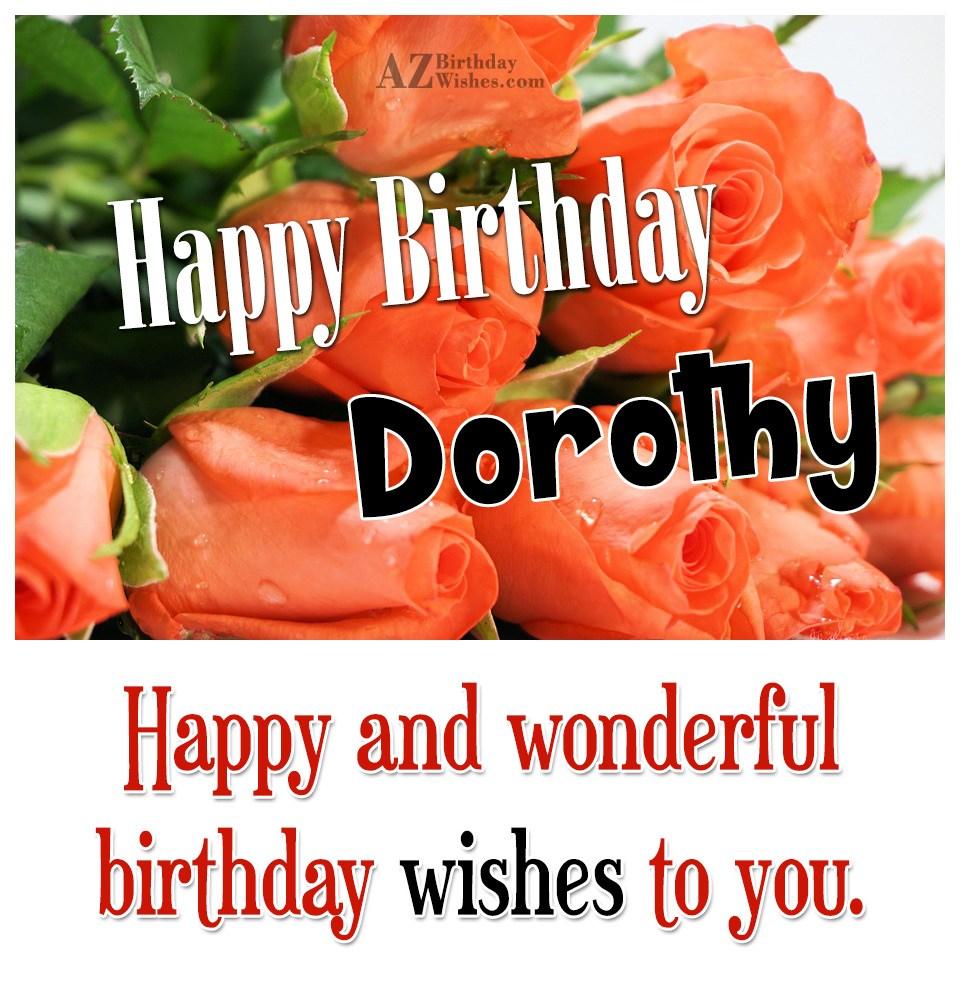 Happy Birthday Dorothy
