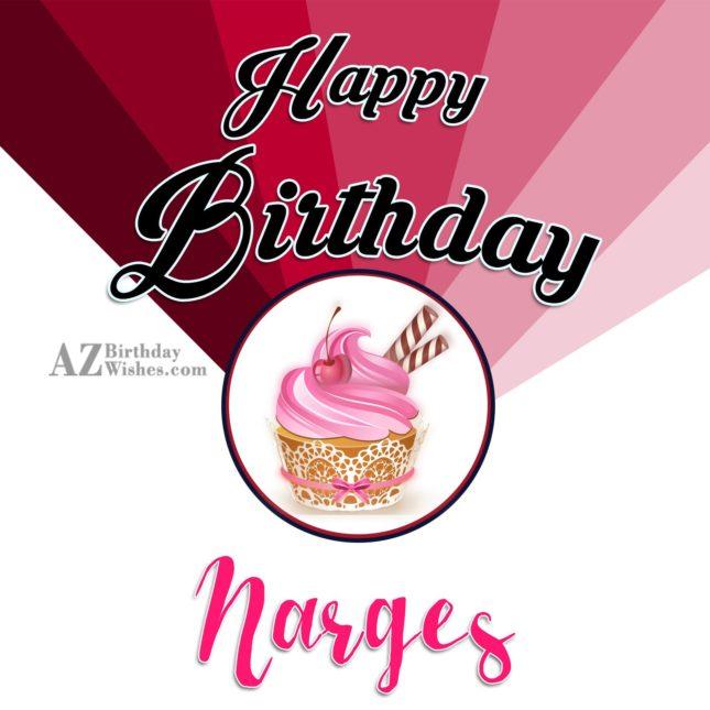 Happy Birthday Narges - AZBirthdayWishes.com