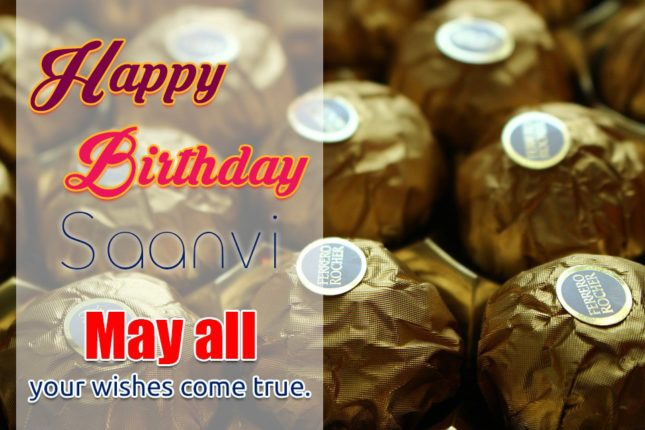 Happy Birthday Saanvi - AZBirthdayWishes.com
