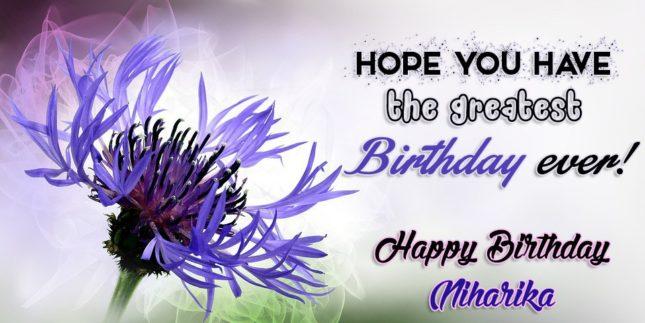 Happy Birthday Niharika - AZBirthdayWishes.com