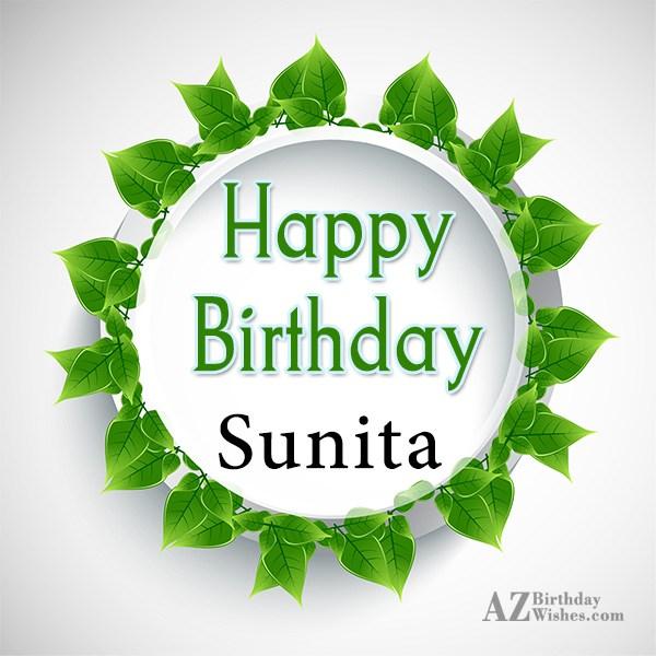 Happy Birthday Sunita - AZBirthdayWishes.com