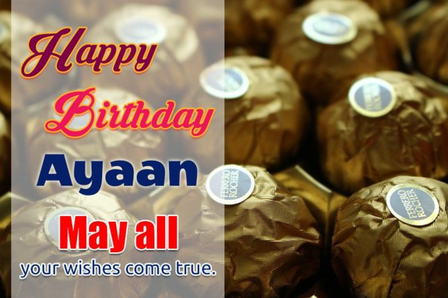 Happy Birthday Ayaan - AZBirthdayWishes.com