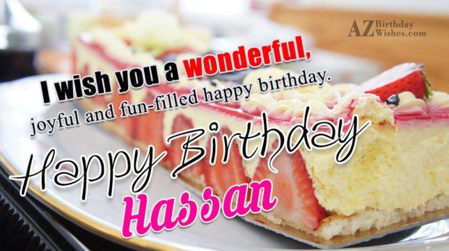 Happy Birthday Hassan - AZBirthdayWishes.com
