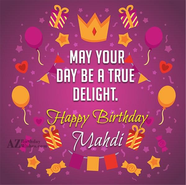 Happy Birthday Mahdi - AZBirthdayWishes.com