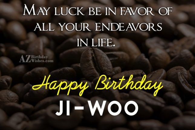 Happy Birthday Ji-woo - AZBirthdayWishes.com